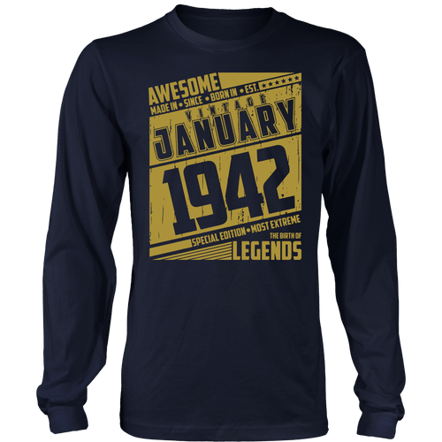 Legends queens Vintage Retro born made in january 1942 76 th