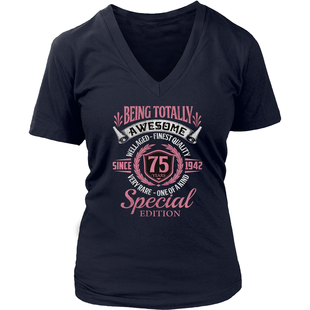 75th Birthday Shirt Awesome Since 1942, 75 Years Old Gift Hoodie - Tank-Top