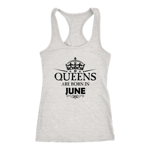 Queens Are Born In June Birthday T-Shirt for Black Women