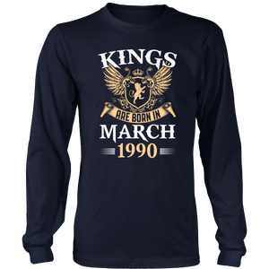 Kings Are Born in March 1990 T-Shirt