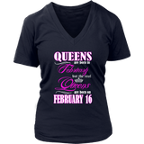 Birthday Queens Are Born On February 16 Gift T Shirt Quotes Hoodie