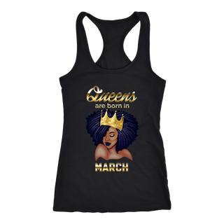 Queens Are Born In March Birthday Tank