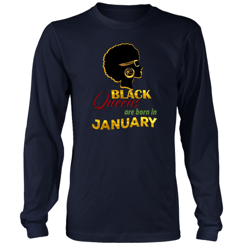 Womens January Birthday Shirt Black African American Egyptian Afro Hoodie - Tank-Top