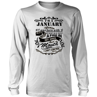 i'm A January Woman - Birthday Gift T-Shirt