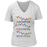 Alphabet Christmas Lights Tshirt Famous Tee Quotes Hoodie