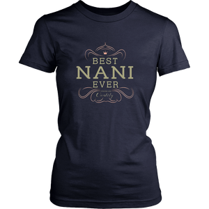 Best Nani Ever Grandma Mother Gifts T-shirt For Women