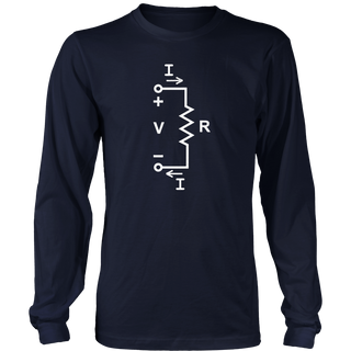 Ohms Law Diagram Electrical Engineer Physics Math Shirt