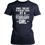 Already taken by a super sexy February Girl Hoodie Tank-Top Quotes Hoodie