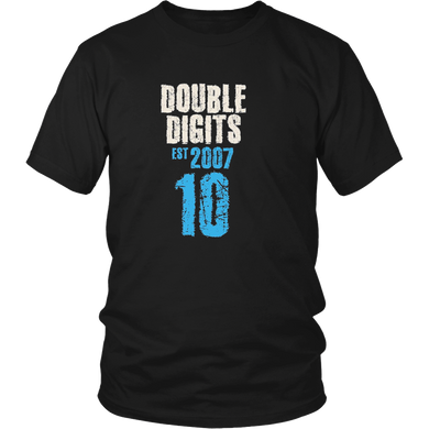 10th Birthday Tshirt Age 10 Year Old Cool Boy Girl Shirt