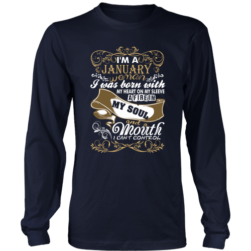 I'm A January Woman I Was Born With My Heart T-Shirt