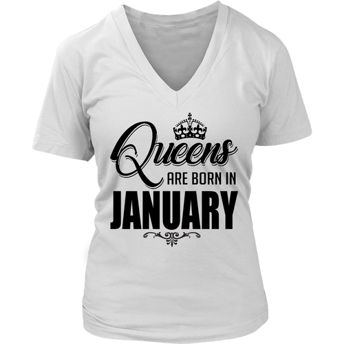 Queens Are Born In January T-Shirt 2018 (V2)