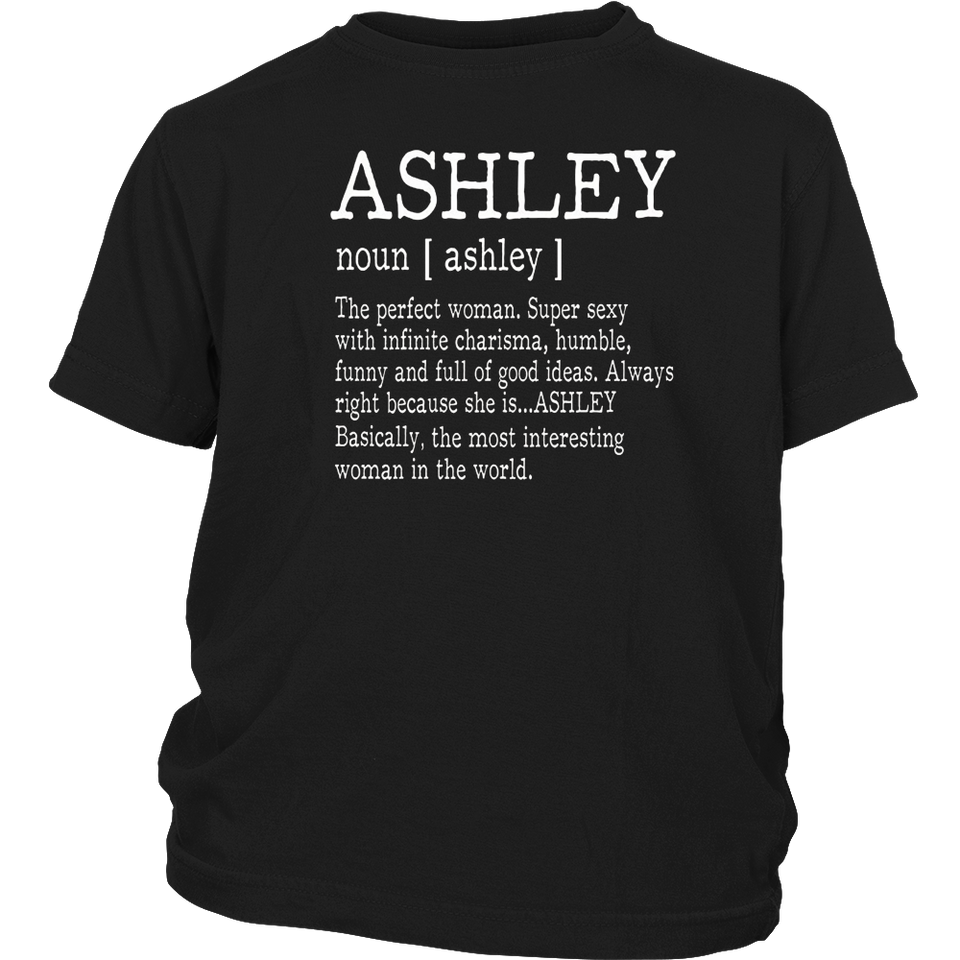 Adult Definition - First Name Ashley - Ladies T-Shirt Funny