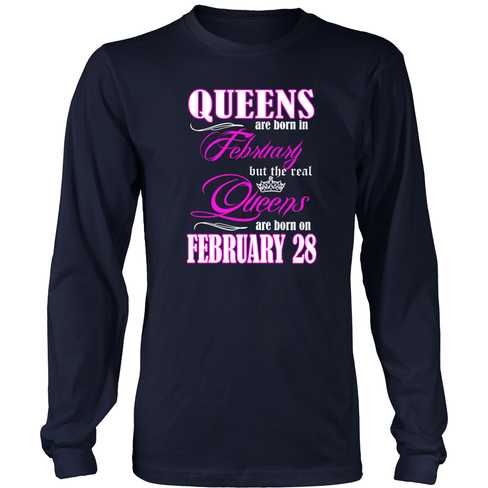 Birthday Queens Are Born On February 28 Gift T Shirt