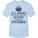 All Women Are Created Equal But Queens Are Born In November Quotes Hoodie