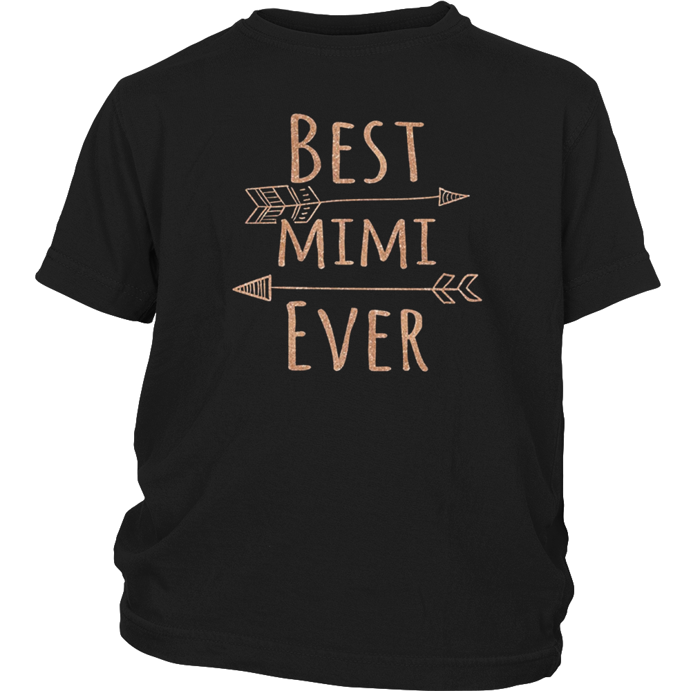 Best Mimi Ever T-Shirt for Grandmothers (Rose Gold)