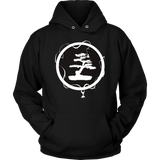 Bonsai Tree In Zen Circle Peace Spiritual Meditation T Shirt Quotes Hoodie