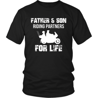 Motorbike Father And Son Riding Partners For Life T-shirt