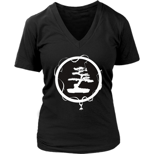 Bonsai Tree In Zen Circle Peace Spiritual Meditation T Shirt