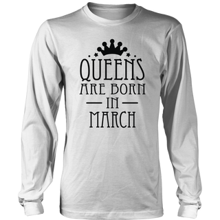 Queens Are Born In March - Birthday Gift