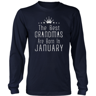 The best grandmas are born in January Funny Birthday T-Shirt