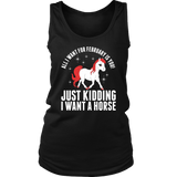 All I Want For February Horse Hoodie Tank-Top Quotes Hoodie