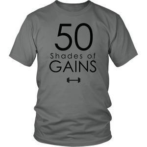 50 Shades Of Gains T-Shirt Hoodie - Tank-Top