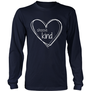 Choose Kind Anti-Bullying T-Shirt (with White Hearts)