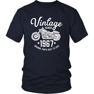 50th Birthday Vintage Retro Motorcycle 1967 Rider T-shirt