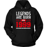 18th Birthday Gifts Boy Girls Legends Are Born in 1999 Shirt Quotes Hoodie
