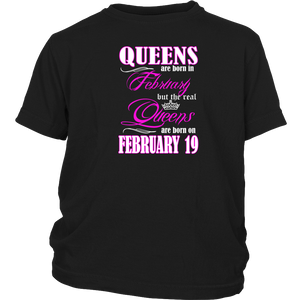 Birthday Queens Are Born On February 19 Men's Women's T Shirt