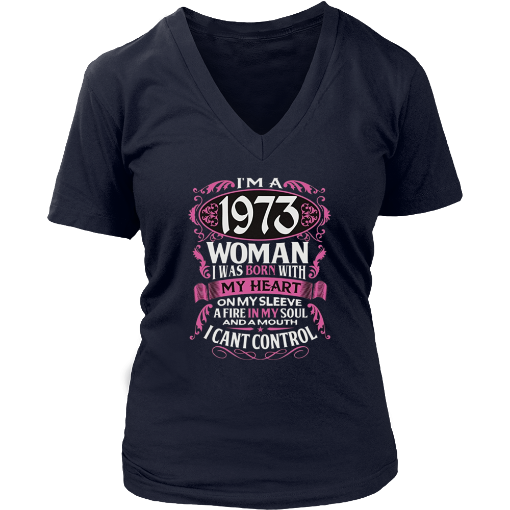 44th Birthday Gift Shirt I'm a 1973 Woman 44 Years Old Tee