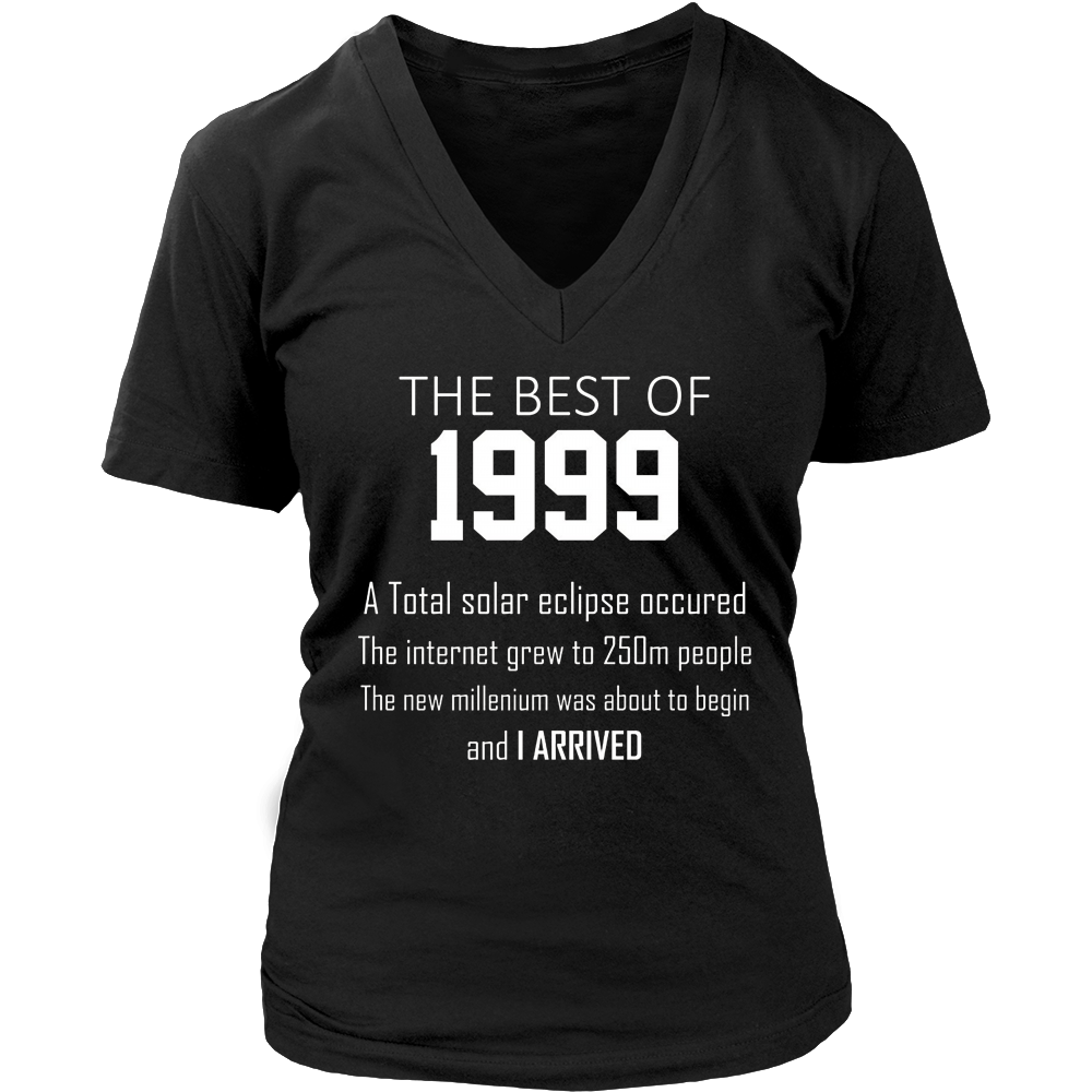 1999 18th birthday T shirt gift for 18 year old boys / girls