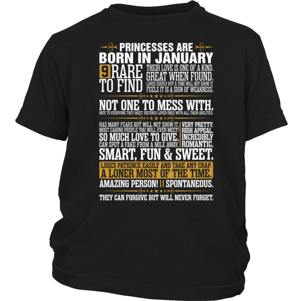 9 Rare To Find Princesses Are Born In January Gift T-Shirt