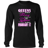 Birthday Queens Are Born On February 17 Funny Shirt Quotes Hoodie