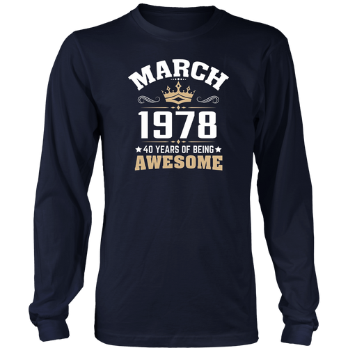 Birthday gift March 1978 - 40 years of being awesome - Hoodie - Tank-Top