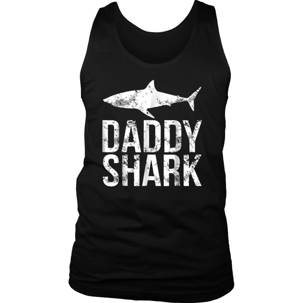 Daddy Shark T Shirt Fathers Day Gifts Family Matching Dad Shirt