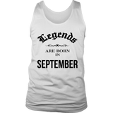Birthday Legends are born in September Men's Women's T Shirt Quotes Hoodie