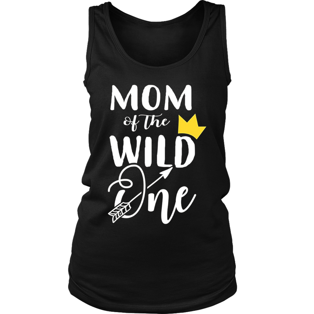 Womens Mom Of The Wild One Mother Couples T-Shirts