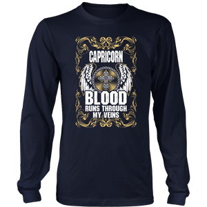 Capricorn Blood Runs Through My Veins T-Shirt