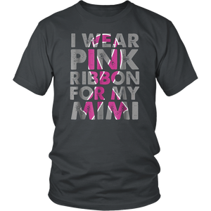Wear Pink For My Mimi  T-Shirt Breast Cancer Grandma