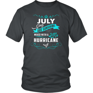 July Girls Are Sunshine Mixed With A Little Hurricane Shirt