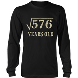 24 yrs years old Square Root of 576 24th birthday T-Shirt Quotes Hoodie