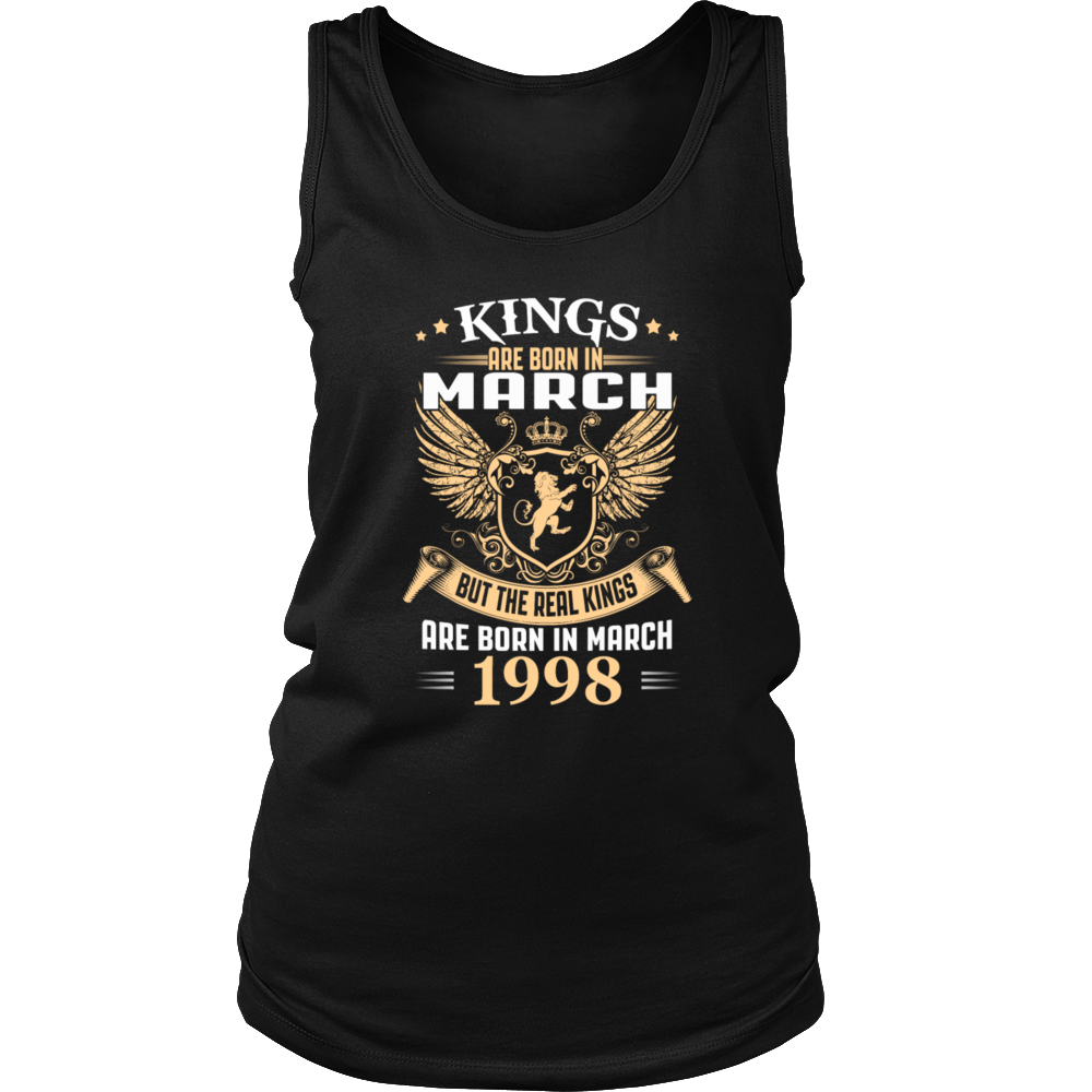Kings Are Born In March 1998 Birthday T-Shirt