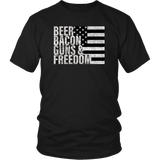 Beer Bacon Guns & Freedom T-shirt Flag Tee Quotes Hoodie