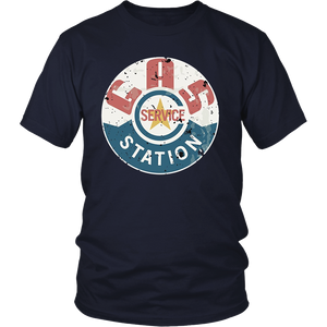 Vintage Gas Station T-shirt (distressed shirts women & men)