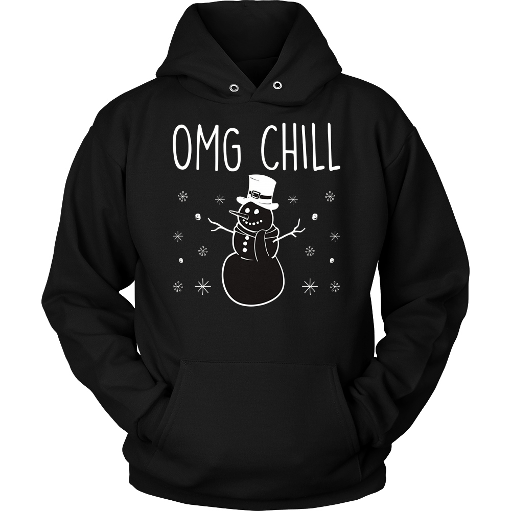 Funny Chill Snowman Pun Joke Christmas T-Shirt