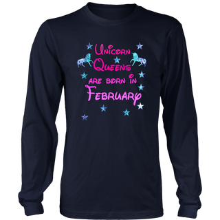 Unicorn Queens born February Funny Shirt