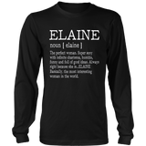 Adult Definition - First Name Elaine - Ladies T-Shirt Funny Quotes Hoodie