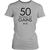 50 Shades Of Gains T-Shirt Hoodie - Tank-Top Quotes Hoodie