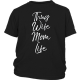 Thug Wife Mom Life Shirt Funny Cute Gangsta Mother T-Shirt Quotes Hoodie